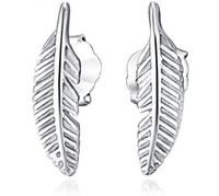 925 federohrringe großhandel-925 Sterling Silber Ohrstecker Modeschmuck Kleine Feder Eegant Stil Einfache Ohrring für Frauen Mädchen