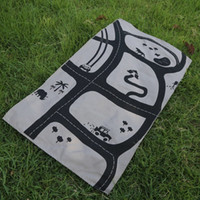 Wholesale Play Zoo - Wholesale- 128CM x 73CM Zoo Theme Baby Car Road Ins Kids Boys Playing Game Mat Baby Crawling Carpet Free Shipping