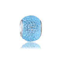 Wholesale Pandora Blue Lights - Light Blue Charm Bead 925 Silver Plated Fashion Women Jewelry Stunning European Style For Pandora Bracelet Necklace PANMB139