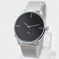 Wholesale Fashion Black Dresses - 2017 Fashion Dress Quartz Watch Man Women Steel Brand Watch Silver Luxury Stainless Steel Wristwatch lady Dress Wristwatch free shipping