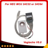Wholesale Nec Mcu - Vagtacho USB Version V 5.0 VAG Tacho For NEC MCU 24C32 or 24C64 2014 Professioanl ECU Chip Tunning Tool10pcs Lot DHL free shipping