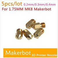 Wholesale With Tracking Number D Printer Nozzle Mixed Sizes mm mm mm Extruder Print Head For MM MK8 Makerbot top sale free ship