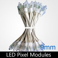 Wholesale Dc5v 9mm Led - LED Advertising Letter Chain Lamp   LED Pixel lamp module, Single Color, Diameter 9mm, DIP LED, Waterproof, DC5V, 100pcs lot
