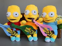 Wholesale Bart Simpson Doll - Cartoon Movie The Simpsons Plush Bart Simpson Toys Soft Dolls 24cm 9.5'' Brinquedos 30 sets