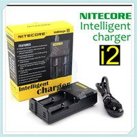 Wholesale E Cigarette Charger Uk - Original Nitecore I2 Universal Intelligent Charger for E Cigarette 18350 18650 14500 26650 mods Battery Intellicharger US UK EU AU PLUG mod