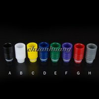 Wholesale Ego Ce5 Tips - Acrylic Drip Tips Derlin Mouthpieces Wide Bore Drip Tip Huge Vapor Drip Tip for Ecig CE4 CE5 CE6 Protank EVOD EGO 510 Atomizers