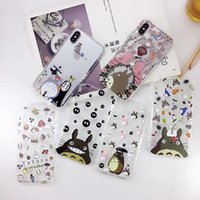 Wholesale Wholesale Iphone Anime Case - Air Cushion Cute Totoro anime TPU Phone Shell Case for iPhone 7 8 Plus X For Samsung Galaxy Note 8 S8 S8 plus