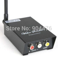 Wholesale Cctv Wireless Senders - 2.4GHz Signals 4 Channels AV Audio Video Sender Wireless Transmitter Receiver For CCTV Camera DVD VCR DVR New Free Shipping