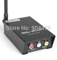 Wholesale Wireless Transmitter For Cctv Camera - 2.4GHz Signals 4 Channels AV Audio Video Sender Wireless Transmitter Receiver For CCTV Camera DVD VCR DVR New Free Shipping