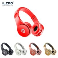 Wholesale Foldable Stereo Headphones - S55 Wireless Headphones Bluetooth Gaming Headset Stereo Music Support TF Card With Mic Foldable Headband Retail Box Better Bluedio