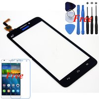 части сотового телефона оригинал оптовых-Wholesale-1pcs Original Replacement For Huawei G620 black Digitizer Glass touch screen for huawei cell phone with free part