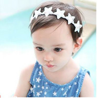 Wholesale Thin Baby Headband Wholesalers - Baby Hair ornaments Gold Silver Glitter Star Thin Headbands Girl Fashion Headwear F0198