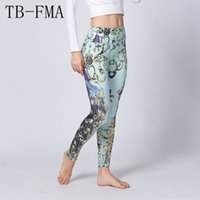 Gedruckt Yoga Leggings Frauen Hohe Taille Fitness Training Leggings Kompression Sport Strumpfhosen Yoga Sportswear Dance Weibliche Hosen
