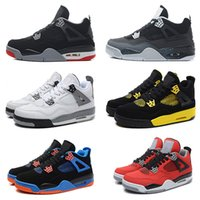 Wholesale Red Air Free - Free Shipping 2016 air Retro 4 cheap basketball shoes Fear Cement Oreo Black Cat Sneaker Sport Shoe,For Online Sale size 8 - 13