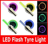 Wholesale Led Wheel Car Auto - 2PCS SET LED Flash Tyre light Flashing different color LED Wheel Light For Auto Car Motorcycle Bike Bicycle Cycling Tyre