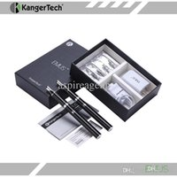 Wholesale Chargeable Cigarettes - Kanger Emus Electronic Cigarette Starter Kit Pyrex Mini Evod Clearomizer Stylish Lockable E-Cigarette Kit With Chargeable Battery