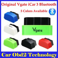 Wholesale Bluetooth Obd Seat - 5 Colors Available 2015 New Arrival Vgate iCar3 Bluetooth OBD Scanner iCar 3 elm327 Bluetooth Diagnostic Interface Free Shipping