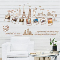 Wholesale Cheap Removable Walls - 23.6*35.4inch Removable Creative Sightseeing Architecture Wall Sticker Home Decor Fashion Stickers Living Room Bedroom Wall Art Cheap