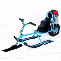 Wholesale Snow Ski Board - Wholesale- Electric Skiing Vehicle Single Board Fuel Snowmobile Directional Snow Sledge Skiing Boards For Children Skiing Equipments