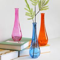 precio de jarrones de de cristal gota de color simple casa de moda