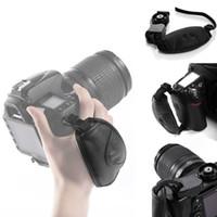 deri dslr fotoğraf makinesi kayışı toptan satış-DSLR Kamera Deri Canon Nikon Sony Olympus için Deri Kavrama Bilek El Kayışı SLR DSLR Deri Yumuşak El Sapları sapanlar