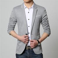 костюмы мужские дизайнерские оптовых-Wholesale- Summer Style  Business Casual Suit Men Blazers Set Professional Formal Wedding Dress Beautiful Design Plus Size M-6XL