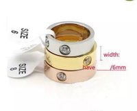 Wholesale Ring Forever Love Gold - Fashion Style Top quality 316L Stainless steel Forever Love Screw Ring for women and man set with zircon