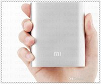 Wholesale External Battery 2a - Xiaomi Mi 10400mAh Power Bank 5V 2A Portable Emergency Battery External Charger For iPhone Samsung Tablet Htc LG Sony