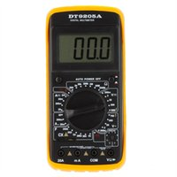 ingrosso tester dell'amplificatore-All'ingrosso-DT9205A Amp Meter Tester Palmare Megohmmetro Multimetro Digitale DMM w / Capacità hFE Test Multimetro Amperometro Multitester