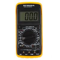 Wholesale Digital Meter Capacitance - Wholesale-DT9205A Amp Meter Tester Handheld Megohmmeter Digital Multimeter DMM w  Capacitance & hFE Test Multimetro Ammeter Multitester