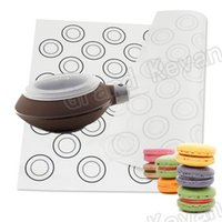 Wholesale Macarons Baking - 1 Set Macarons Baking Mat Sheet Tools 40*30cm Non-slip Non-Stick Silicone Dough Mat Glass Fiber Platinum Silicone Baking Mat