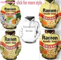 Wholesale Chicken 3d - New Fashion Couples Men Women Unisex Ramen Noodle Chicken Beef 3D Print Hoodies Sweater Sweatshirt Jacket Pullover Top S-5XL TT110