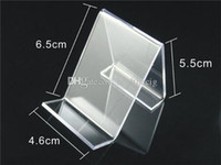 Wholesale dv phone resale online - 50pcs Cell phone display stand clear acrylic universal mobile lazy desktop phone holder for phone MP3 DV GPS factory price