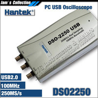 Wholesale Pc Dso - PC USB Oscilloscope Hantek DSO2250 250MS s, 100MHz bandwidth 2CH DSO-2250