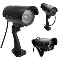 kamera indirimli gemi toptan satış-Drop shipping Harika Açık Kapalı Sahte Gözetleme Güvenlik Kukla Kamera Gece CAM LED Işık EA10516