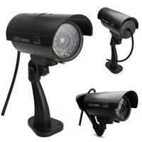 nave de la gota de la cámara al por mayor-Envío de la gota Maravilloso Outdoor Falso Vigilancia Seguridad Dummy Camera Night CAM LED Luz EA10516