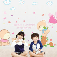 Wholesale Baby Wall Stickers Winnie - Three generations of removable wall stickers children's room nursery baby room decor love Winnie the AM7037