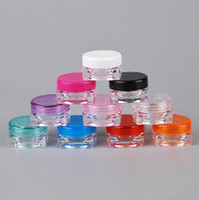Wholesale Square Cream Cosmetic Jars - colorful 3g cosmetic container, square cream jar, sample jar Makeup Face Cream Lip Balm Container Bottle cosmetic bottle packaging
