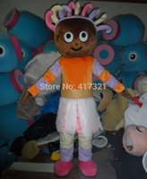 Wholesale Smiling Mascot - Wholesale-SX100 smiling fairy dressed a dress mascot adult fairy mascot costume