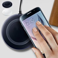 Wholesale Dock Station Galaxy - For Samsung S6 S6 Edge Qi Wireless Charger Transmitter Mini Fast Charging Pad Docking Station for Galaxy G9200 G9250