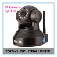 Wholesale Ip Cctv Software - ESCAM 720P HD P2P Plug and Play Wireless IP Camera CCTV Camera Home Security ipcamera Free Iphone Android App Software QF-100