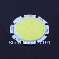 Wholesale T8 Round - Free Shipping 7W Pure White Round COB Super Bright LED SMD Chip Light Lamp Bulb 6000-6500K order<$18no track
