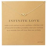 Wholesale Infinite Chain - New Style Infinite-Love plated 14k gold Pendant necklace Fashion Statement Clavicle Chains Necklace For Women Jewelry with card