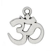 ohm jóias venda por atacado-Jóias Descobertas Pingentes Charme Ohm Symbol Antique Silver (Chumbo, Níquel Livre) 15mm x 14mm, 200PCs