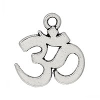 Wholesale Led Ohm - Jewelry Findings Charm Pendants Ohm Symbol Antique Silver(Lead,Nickel Free)15mm x 14mm,200PCs