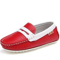 Wholesale Boys Shoes 31 - Wholesale-boys girls shoes Genuine leather flat casual kidsren's cool simple breathable outdoor party Garden shoes size 26 -31