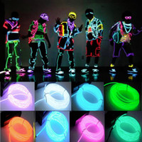 neon grün geführt bar licht großhandel-US 5M / 16ft flexibles EL Draht Neon LED Licht Seil Party Auto Decorati