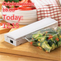 Wholesale Handy Battery - Portable Reseal And Save handy Plastic Food Saver Storage Bag Sealer Keep food fresh & reduce waste vacuum packer free shipping A3