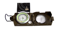 Wholesale Handheld Compass - High quality night light K4074 Army green color American Multifunctional Luminous handheld compass with ruler level outdoor car compass
