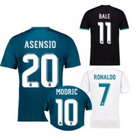 17 18 Real madrid jersey soccer home bianco RONALDO 7 2017 BALE ARSENSIO THIRD BLUE ISCO AWAY NERO CAMICIE CALCIO SERGIO RAMOS JERSEYS